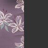 Flora in Plum - Black - Reversible